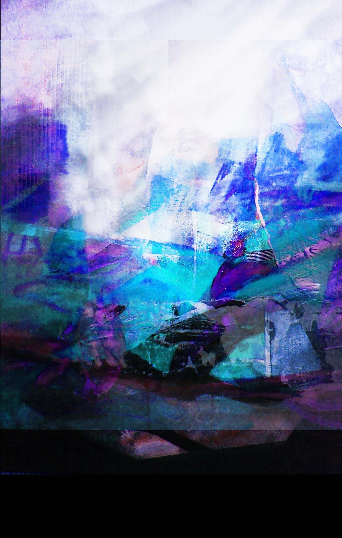 Profondo di Franco Margari - tecnica mista su carta 50x70